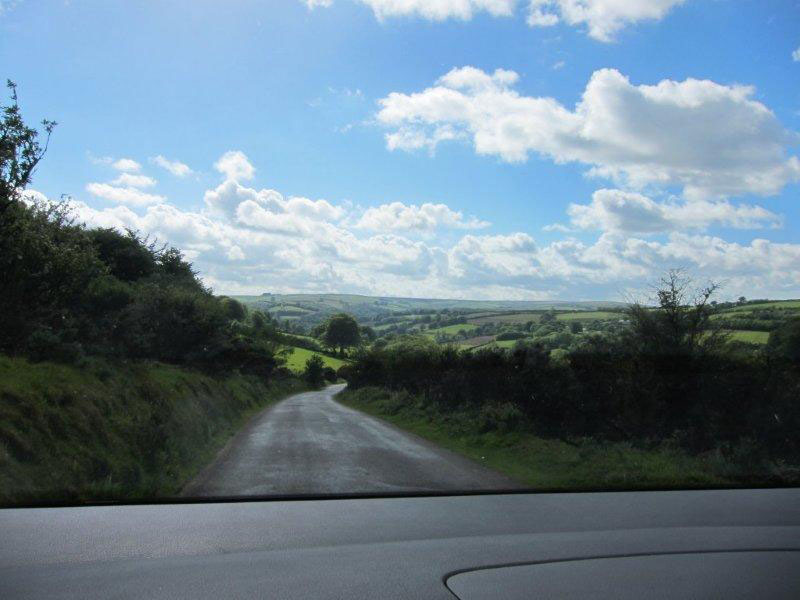 A country road near St. Just, Cornwall
